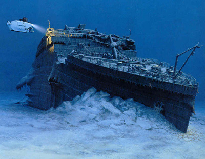 titanic - this is the pic of the titanic ship sinking.. amazing movie
