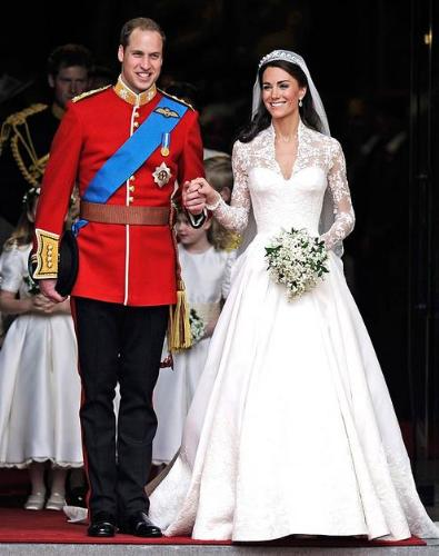 The Duke and Duchess of Cambridge - Prince Wiliam and his wife Kate Middleton. What a cute couple!