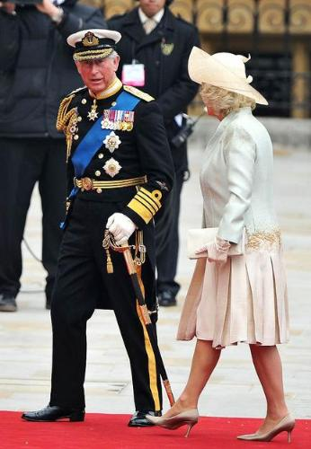 Charles and Camille - Prince Charles and the Duchess of Cornwall going into the Westminter Abbey for Willims Wedding.