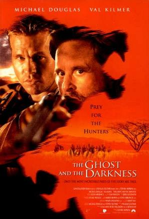 Ghost and darkness - The movie was based on the story in 1898 Kenya. That year the British were trying to build a railroad. Two man eating lions killed alot of people around that time!