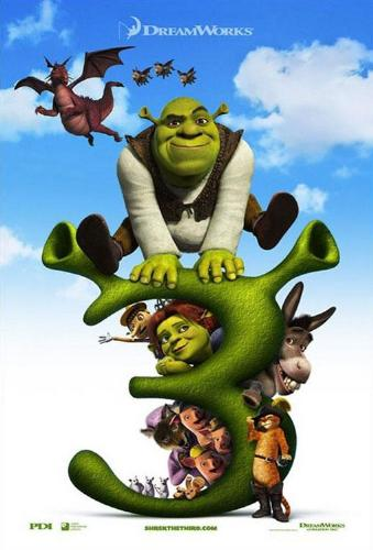 shrek 3 - this is the cover page of shrek the third