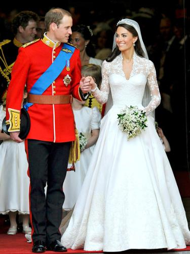 Prince Wiilliam and his bride Kate Middleton - William and Kate married last friday. They are a cute couple and I know they will make it!