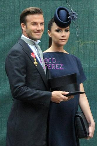 David and Victoria Beckham - Becks and Vicky at the Royal Wedding