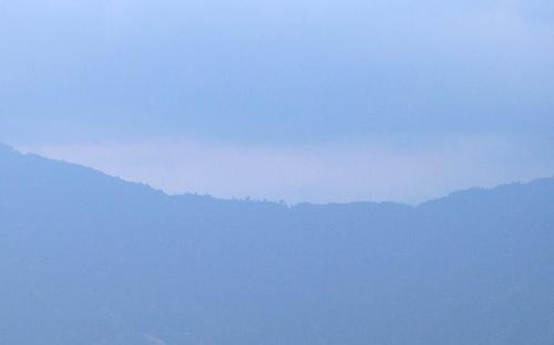 gangtok clouded - clouds covering gangtok skyline