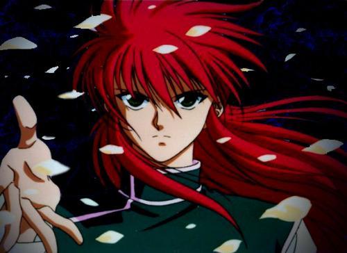 Kurama / Shuichi Minamino - This is Yu Yu Hakusho's (Ghost fighter / The Poltergeist Report) one of the most admired and good - looking, if not the most admired and good looking, character. One of the hunks of anime world, a true bishounen. Kurama / Shuichi Minamino / Dennis!