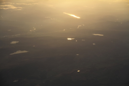 Lakes in the sun - Lakes seen from the plane