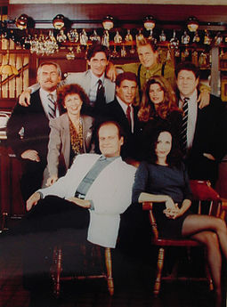 The cast of cheers - That was such of a great show! Sam,Woody,Frasier,Lilith,Rebecca,Carla,Norm and Ciff! What a bunch of grat characters!