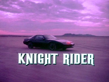 Knight Rider - Knight Rider was on tv from 1982-1986. It starred David Hasslehoff and a super car called 'Kitt' that talked!