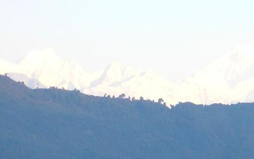 himalayan peaks - see the peaks in the morning