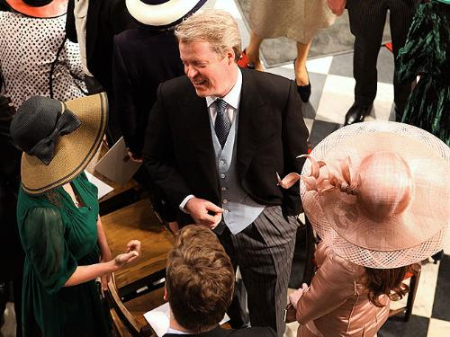 Earl Spencer - Earl Spencer is Charles Spencer. The Late Princess Diana's brother. Charles was at his nephew Prince William's wedding.