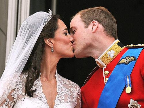 The Kiss - One of the two kisses on the balcony at Buckingham Palace!