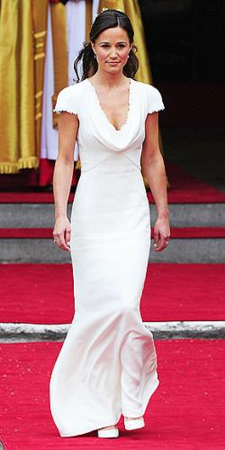 Pippa Middleton - She was her sister's maid of honor last friday when sister Kate married Prince William. Very beautiful dress!