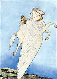 The Winged Horse - In Greek mothology he was Pegagus.