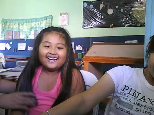 estudyantes - the picture shows the cute face of one of my students. :)