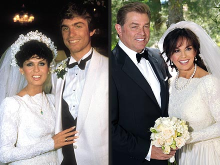Marie Osmand;s wedding dress - Marie Osmand married Steve Craig in 1982 and they divorced in 1985. In the past week they remarried and marie wore the same wedding dress she wore the first time around with Steve Craig!