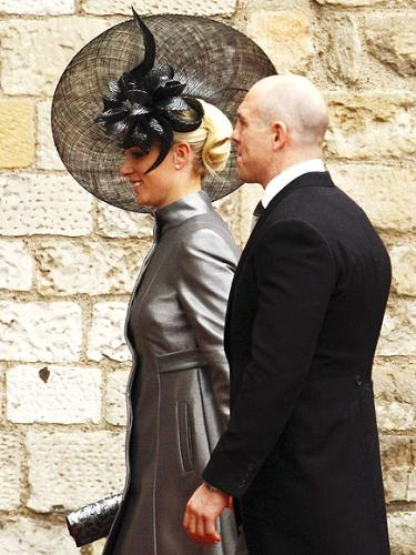 Zara Phillps - Prince William's cousin and Princess Anne's Daughter,with her soon to be husband at Wills wedding.