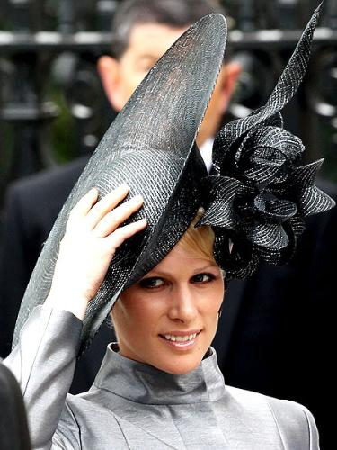Zara Phillips - Zara was at cousin Prince Williams wedding. I love her hat!