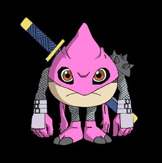 ninjamon pink - ninjamon pink, digimon
