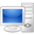 Computer - A photo that is displayed a computer screen,a keyboard and a mouse