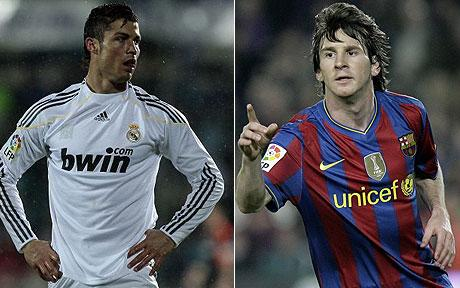 messi and ronaldo - 2 best football players!