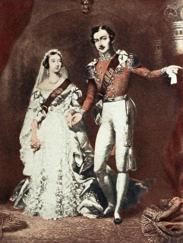 Queen Victoria and Prince Philip - Queen Victoria married Prince Albert in 1840. Here is a drawing of the event.