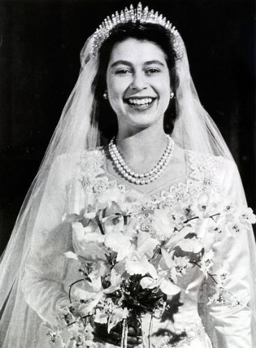 Princeess Elizabeth - back when she married Philip,who knew it would not be long before she would become the Queen of England! I found out most royal wedding dresess are designed to fit the bride's personality and hope for their country!