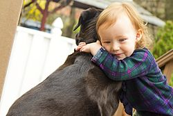 Unconditional love! - A dog and a little girl! How sweet! Animals love us and you know it! they don't talk back! they are always there for us and they never take advantage of us! That is LOVE!