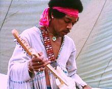 Jimi Hendreicks - Jimi Hendricks at Woodstock. He was brilliant on the guitar!