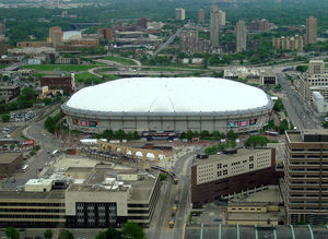The Metro Dome - The home of the Minnesota Vikings since 1982. They realy need a new stadium but I don't see that happening anytime soon!