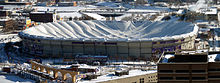 Collapsed roof - Last December it snowed so much in Minnesota,the roof of the Metro Dome collapsed! The Vikings had to play their last home games in Detroit and the other at the stadium the Minnesota Gophers play their home games!