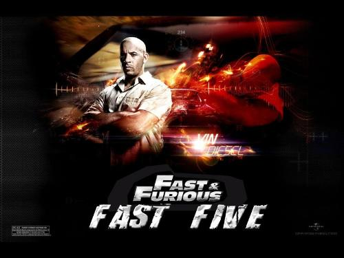 Fast and Furious 5 Promo Poster  - Fast and Furious 5 Promo Poster , Fast 5, Vin Diesel, Paul Walker, Vin Diesel, Rio Heist , Car Chasing
