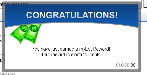 Another Mylot reward - thanks myLot.. You're awesome..
