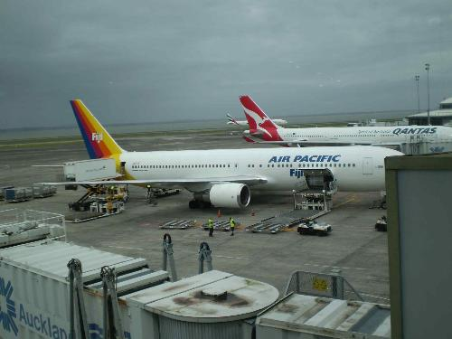 Boeing 767 - An Air Pacific Boeing 767 parked at Auckland Airport.