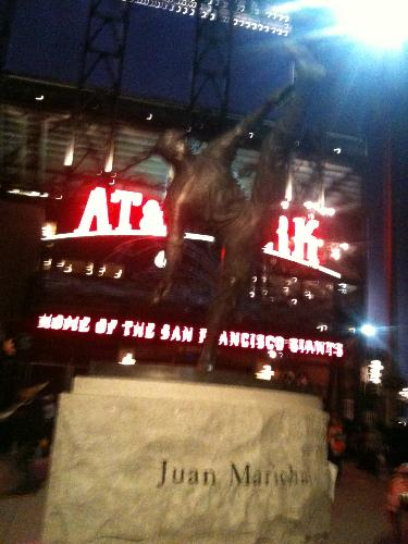 Juan Marical - This is a statue of pitching great, Juan Marical. The statue is located at at&t Park in San Fransisco.