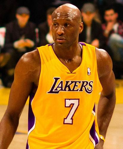 Lamar Odom - Lamar Odom of the LA Lakers. What a jacka** he was on sunday! Idiot!
