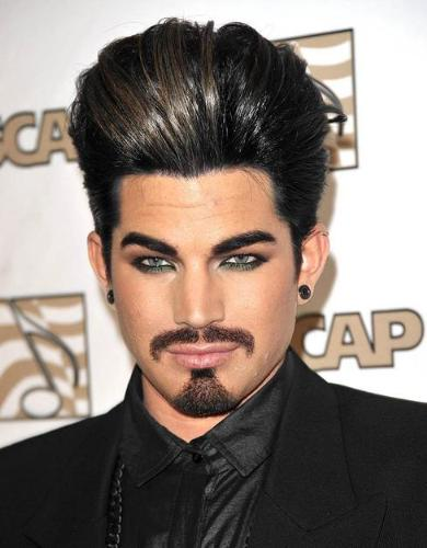 Adam Lambert - This guy is so weird! The way his has his hair and the eye make up he has on,makes him look scary! Yikes!