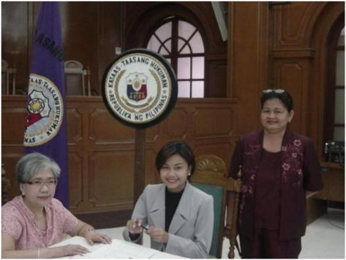 oath taking - taken during signing of Roll of Attorney's at Supreme Court, Manila. Behind me is my supportive and loving mom.