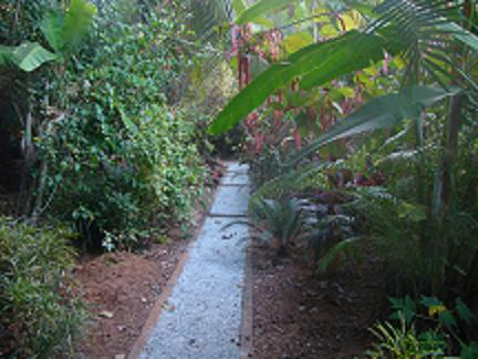 Garden paths - In order that weeds do not grow and walking is easy constructed paths are ideal
