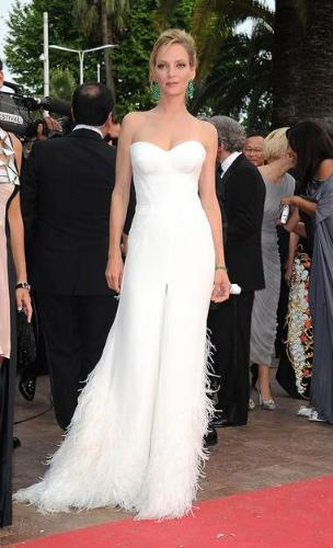 Uma Thurman - Uma Thurman at this years Cannes Movie festival. Very sexy dress!