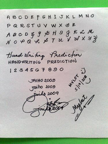 handwriting prediction can you read mine?...anyone - handwriting prediction can you read mine?..anyone please