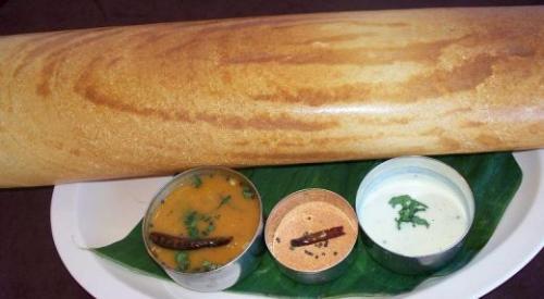 doosa, idli, vadai - doosa with vadai
