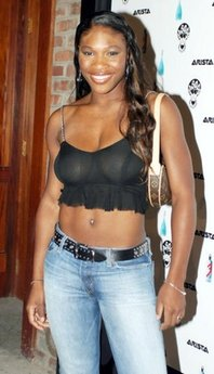 Serena Williams - She wore this outfit to a MTV party once! Yikes!To little there!