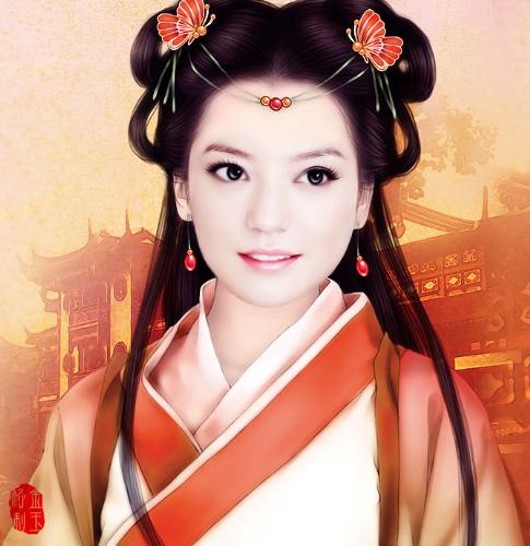 Is she beautiful? - an typical Chinese ancient woman