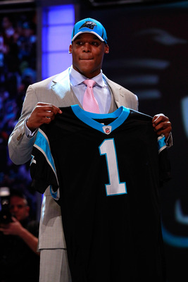 Cam Newton - The Caroline Panthers first round pick in the 2011 NFL Draft. They need him!