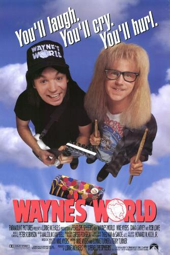 Wayne's Workd - The movie poster for Wayne's World.