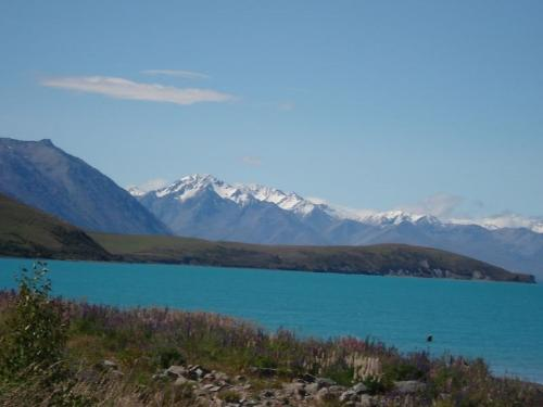 Lake Tekapo at New Zealand - A beautiful lake with a copper sulphate color- simply loved it!
