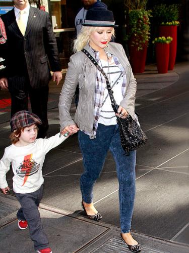 Christina Aguilera - Christina with her main man,son Max. He is a cute!