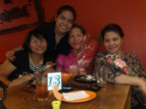 Friday 13th  - Late Celebration of Mother's Day last May 13, 2011
