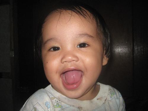 my baby boy - my one year old son.