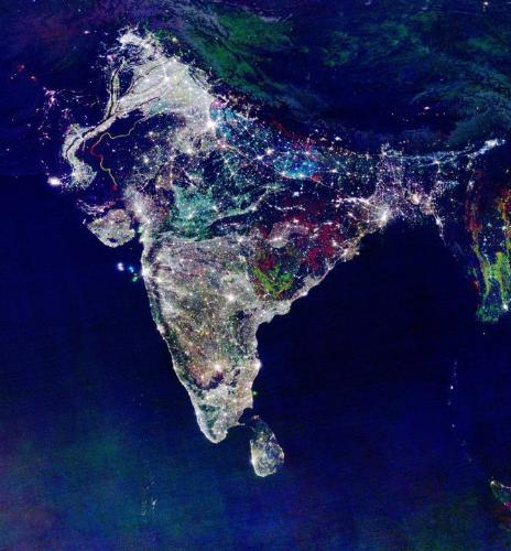 India - This is map of India during Diwali. Its a great picture.